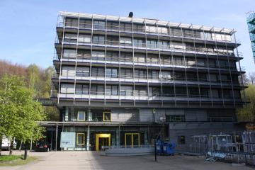 Gebäude E1.4 der Universität des Saarlandes.