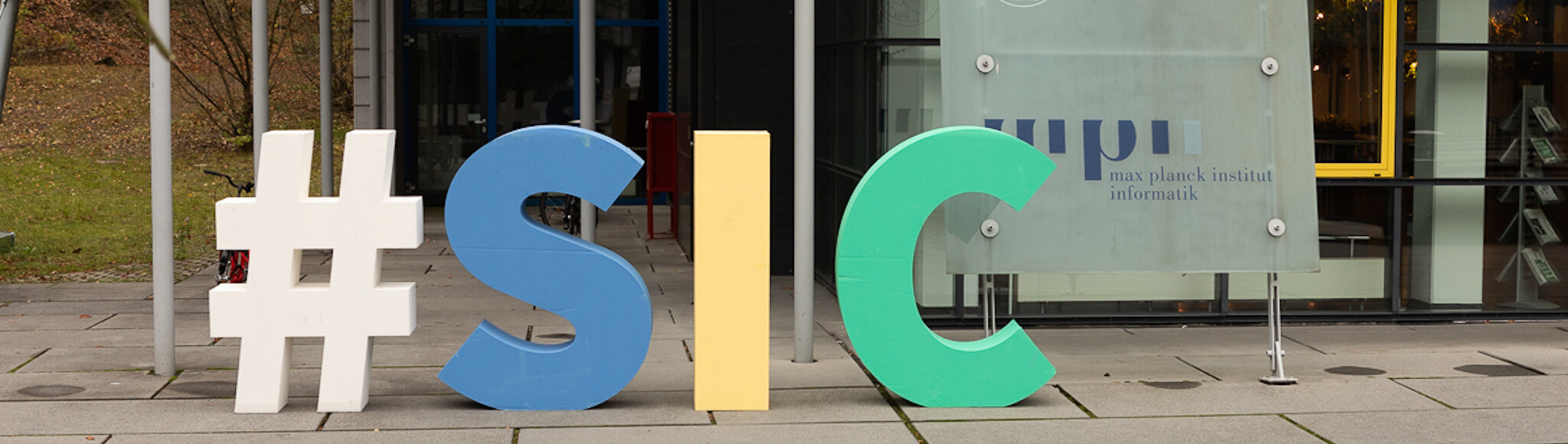 """Letters """"SIC"""" in front of building E1.4"""