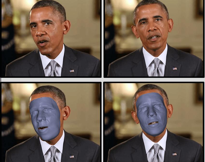 Realistische 3D Gesichtsrekonstruktion vom Standard-Video