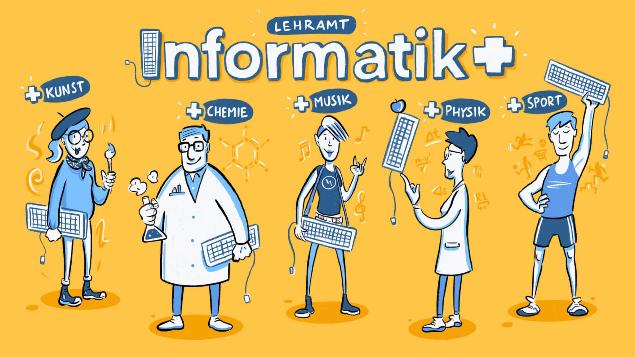 Grafik Lehramt Informatik, studieren an der Universität† des Saarlandes